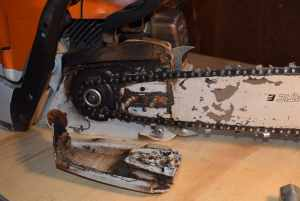 Exposing Flywheel on STHIL Chainsaw