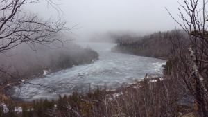 Temperance River Overlook Frozen