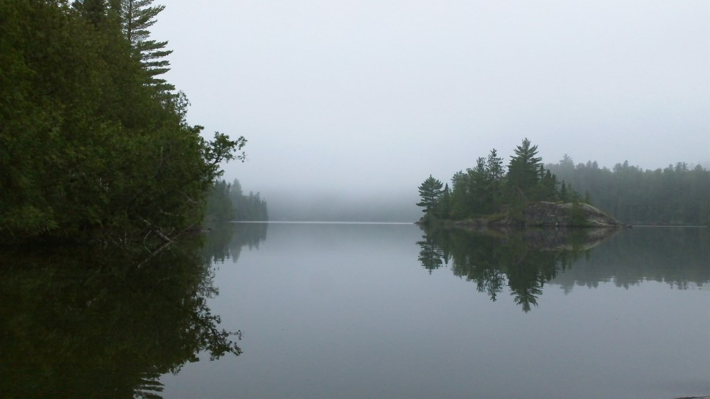 Fog Early on Ottertrek Lake BWCA