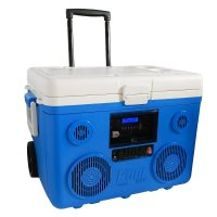 rolling cooler with speakers