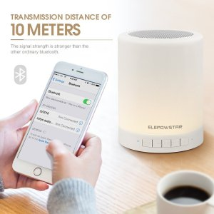 smart touch bluetooth speaker with nightlight