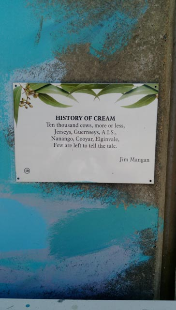 The history of cream poem - Nanango.