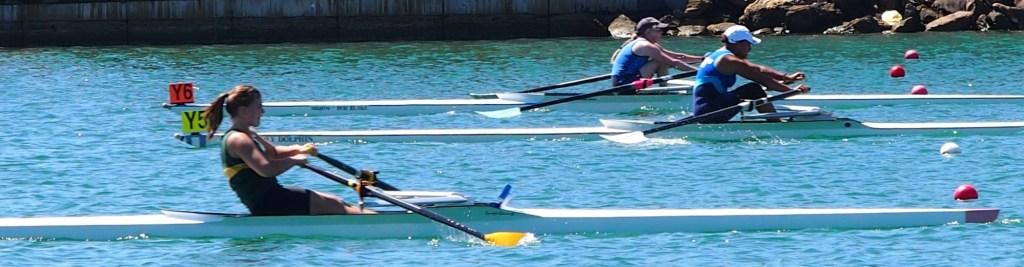 Rowing kayaks