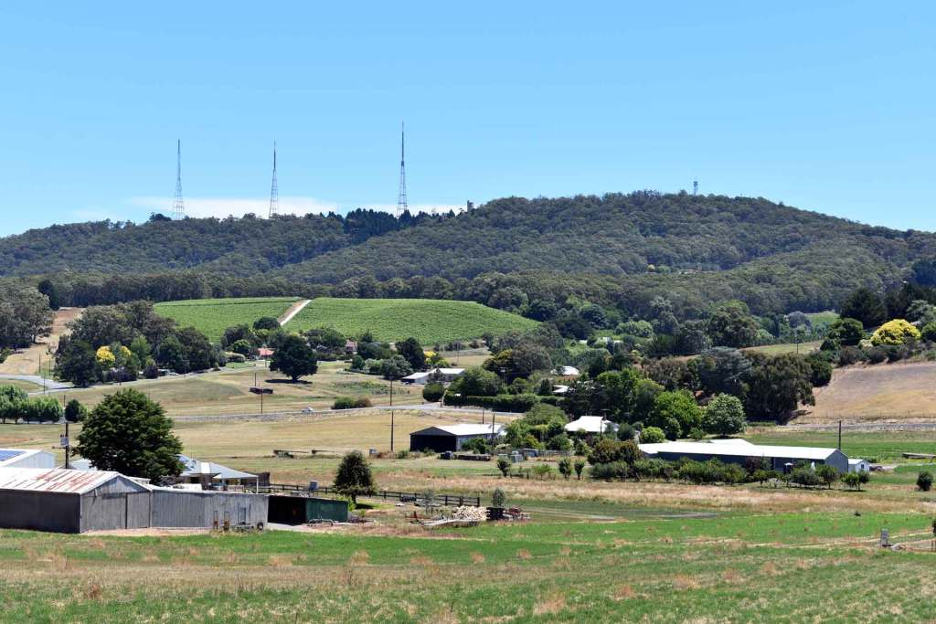 Looking across the Piccadilly Valley to Mt Lofty