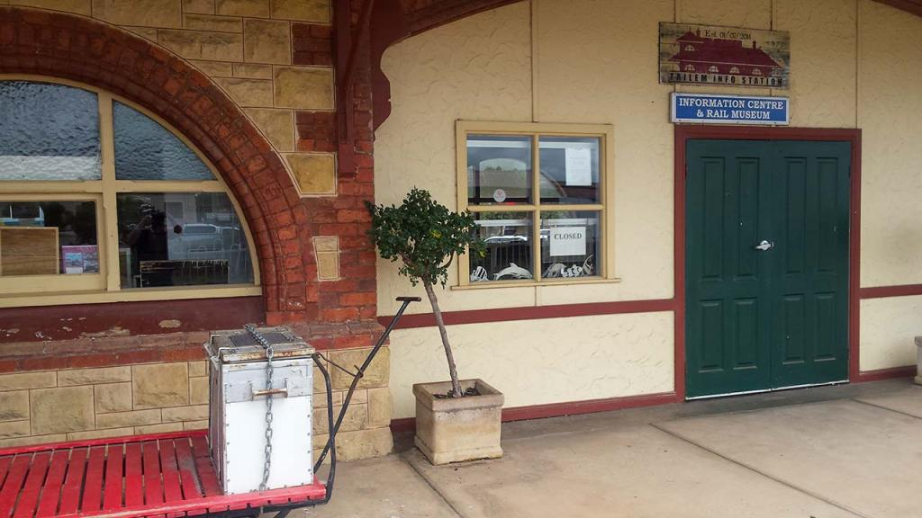The museum at Tailem Bend Railway Station
