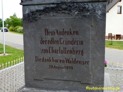 am Ortsausgang Charlottenberg