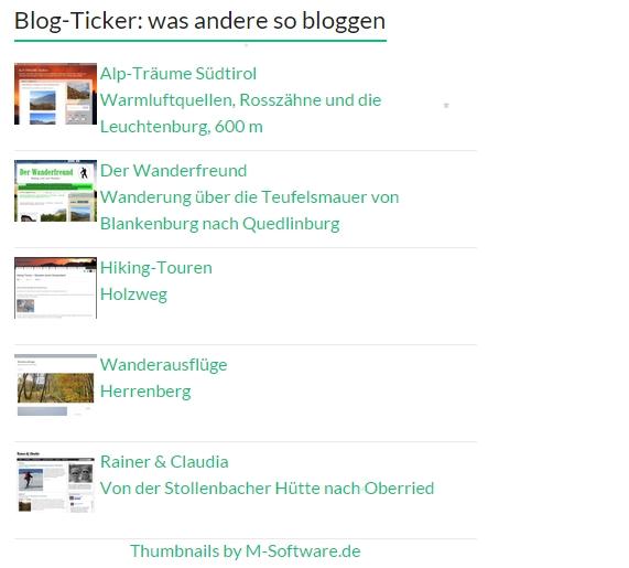 Was andere so bloggen