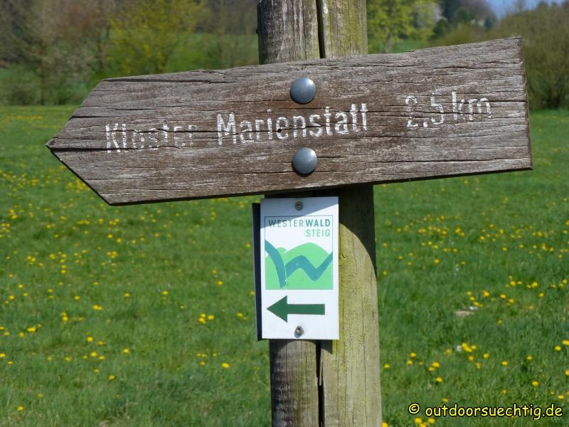 Das Kloster Marienstatt ist zentraler Punkt dieser Wanderung