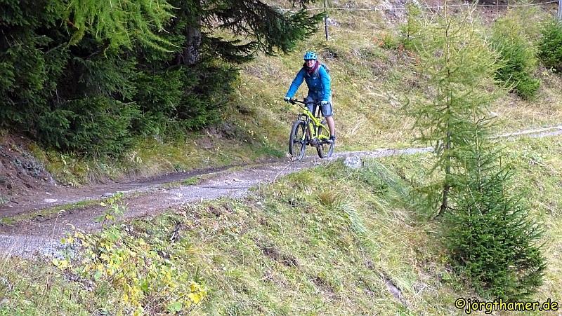 Biken in Davos - hinunter ins Tal