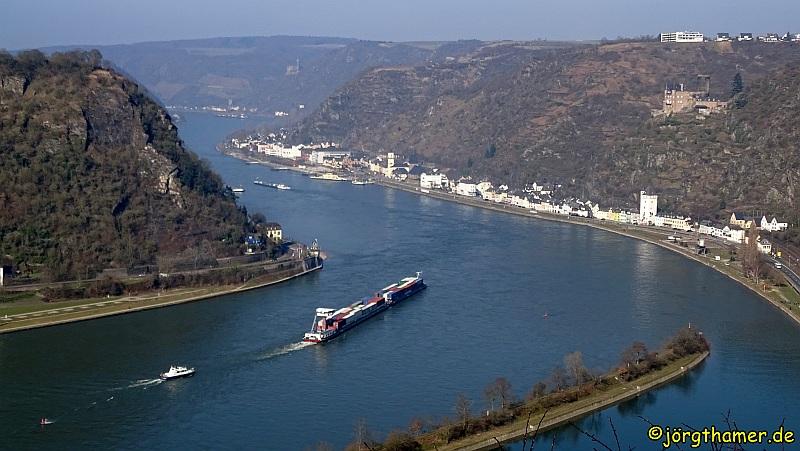 Rheinsteig von St. Goarshausen nach Kaub - Loreley