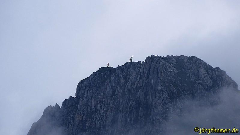 Bergsteiger auf dem Draugstein