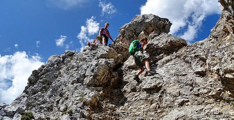 Klettereinlage an der Hochplatte bei Füssen