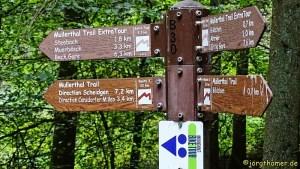 Wegweiser am Mullerthal Trail