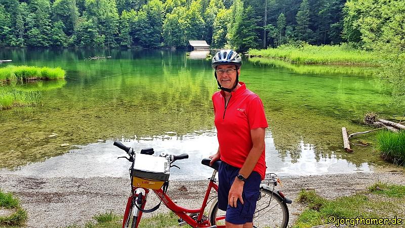 Eurobike Radler vor dem Toplitzsee