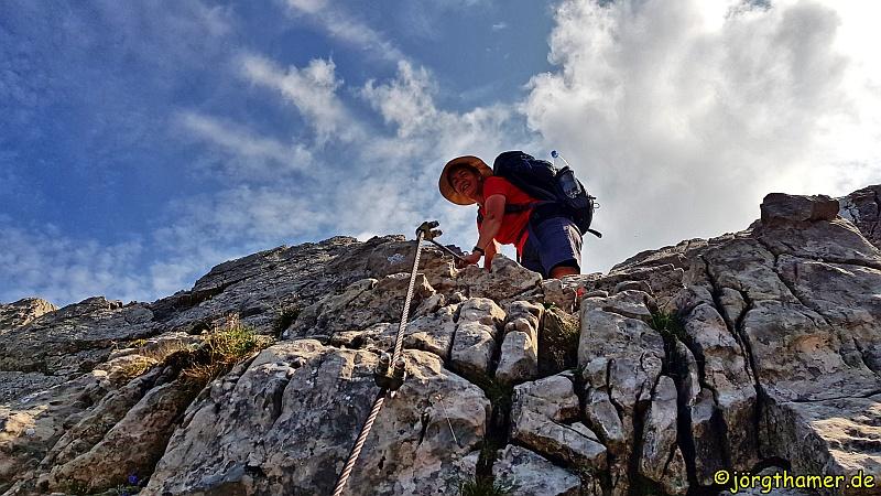 Kletterpassage am Grenzgänger