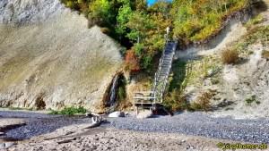 Wandern auf Rügen - Treppe am Kieler Ufer