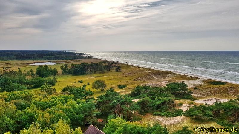 Fischland-Darß-Zingst: Panoramablick vom Leuchtturm Darßer Ort