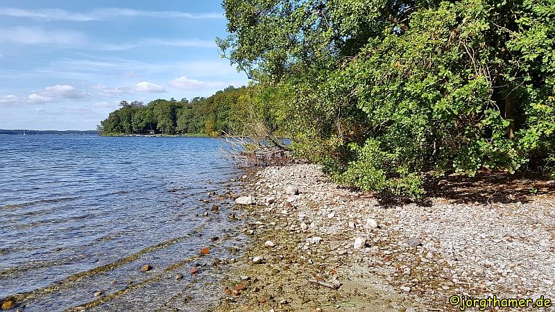 Wandern Mecklenburgische Seenplatte - Ufer des Plauer Sees