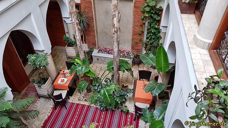 Innenhof des Riad Berta in Marrakesch