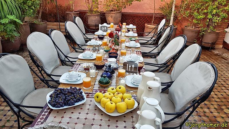 Frühstückstisch Riad Berta