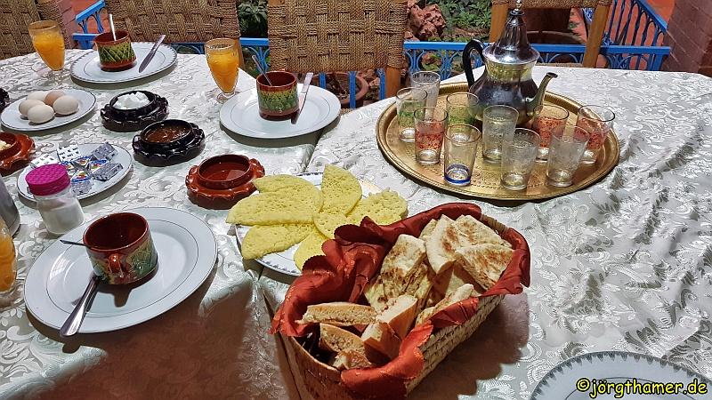 Frühstück im Gästehaus Dar Afra
