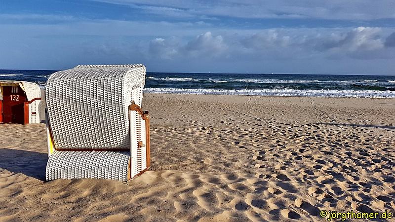 Strandkorb am Strand von Kühlungsborn