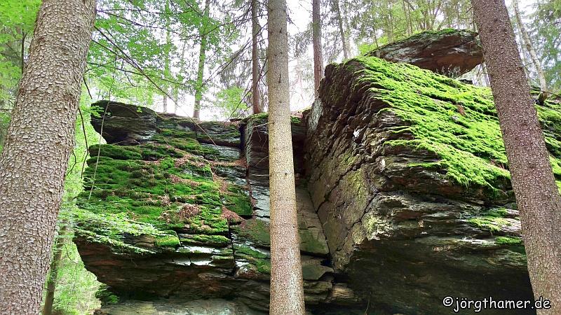 Der Ringelfelsen am Rinnlstein-Rundweg Bad Neualbenreuth