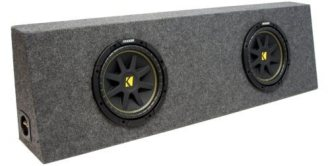 "ASC Package Single 12"" Kicker Sub Box Regular Cab Truck Subwoofer Enclosure"
