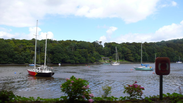 A photo of the river with boats