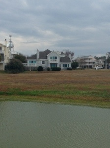 View of back of beach house from boardwalk