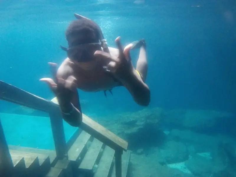 black kids swim