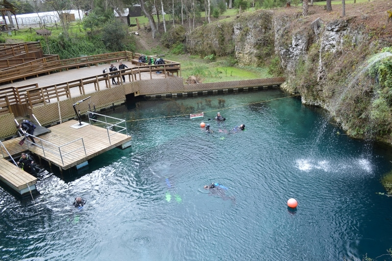 Blue Grotto natural springs in florida