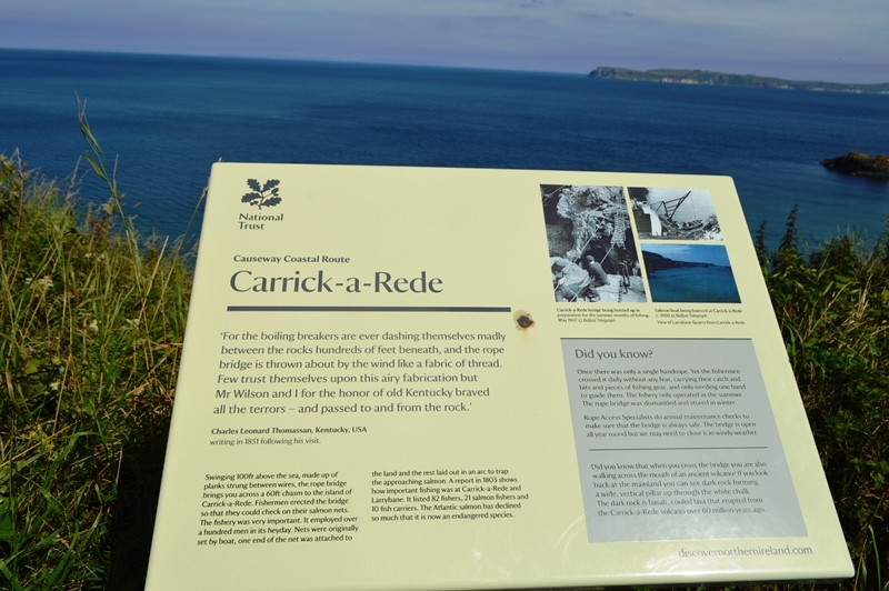 Carrick - a -Rede rope bridge on Northern Ireland tour