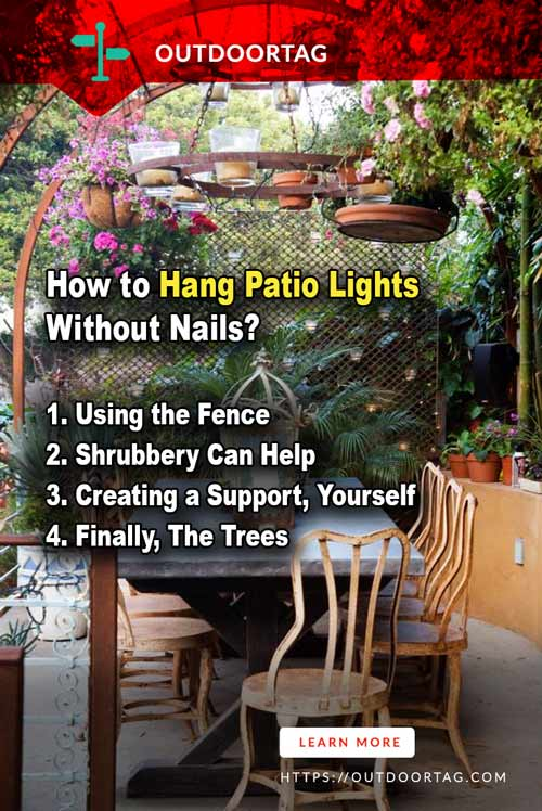 teps of How to Hang Patio Lights Without Nails