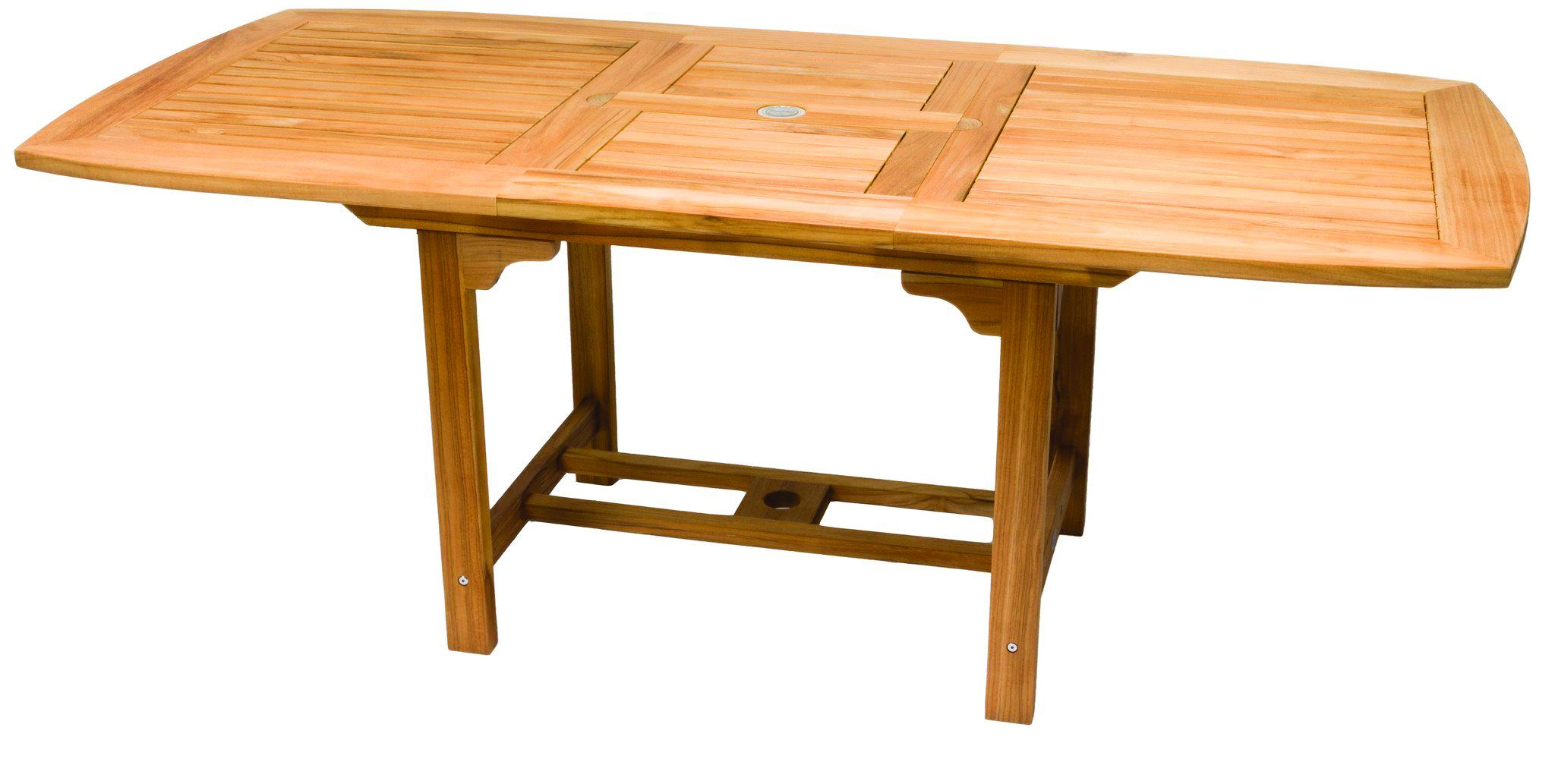 Foot Rectangular Teak Extension Table By Royal Teak Collection - Teak extension table outdoor