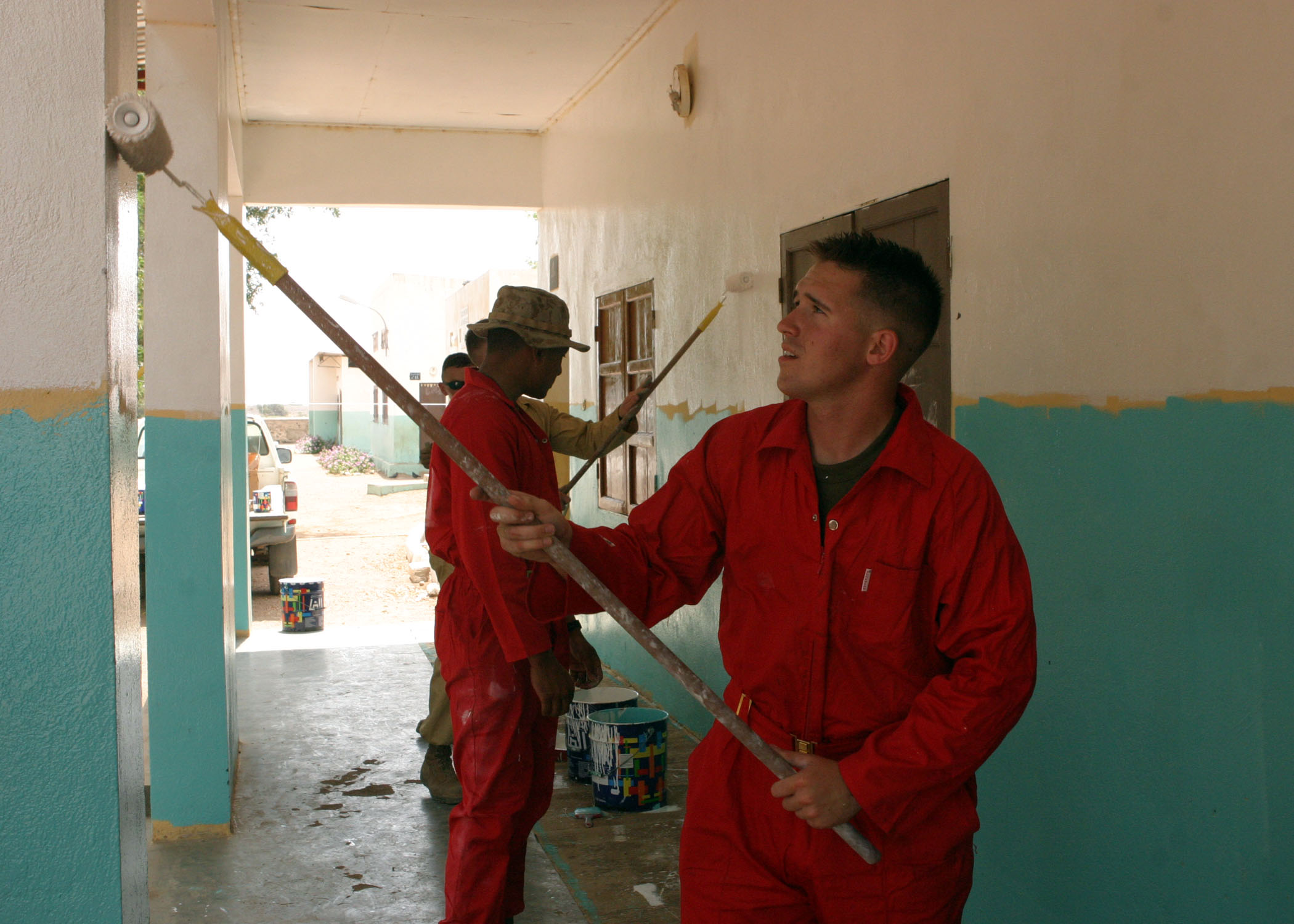 Lance Cpl. Adam Bautz Participates in a Community Relations Project in Djibouti, Africa