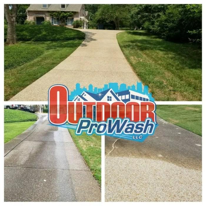 Driveway Pressure Washing