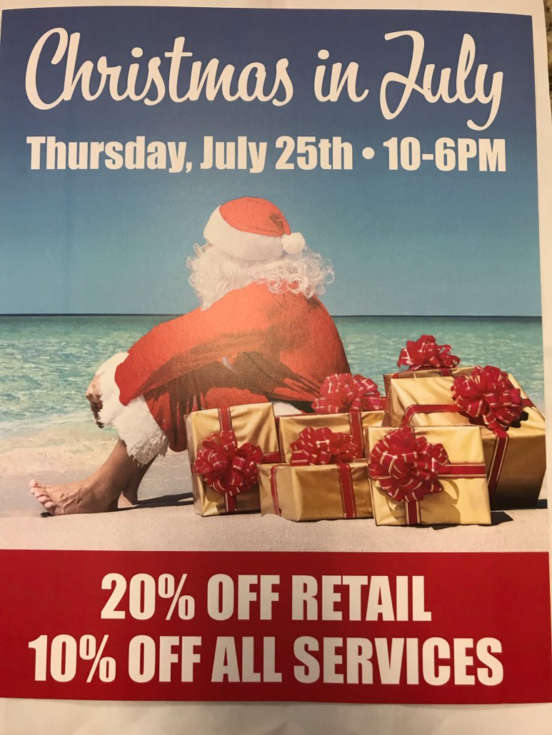 Christmas in July Sales Day