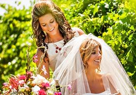 Eden Day Spa Salon bridal party hair & makeup