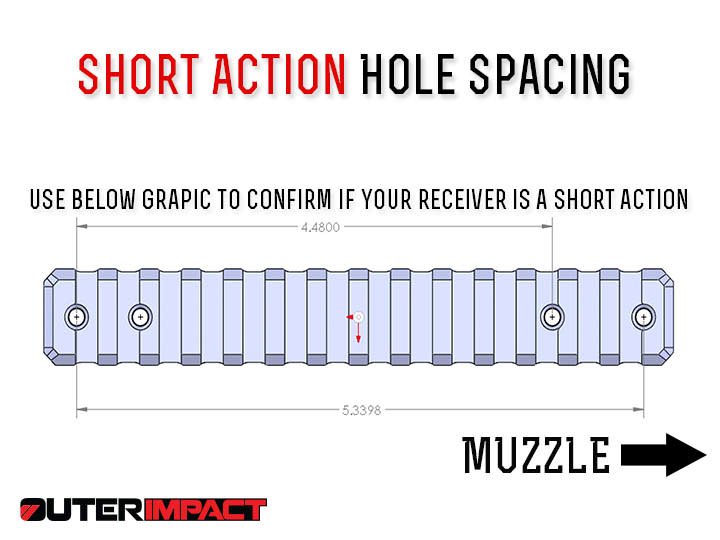 Howa short action receiver hole spacing measurements