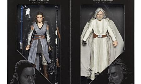 Star Wars Black Series Luke Skywalker and Rey Figures
