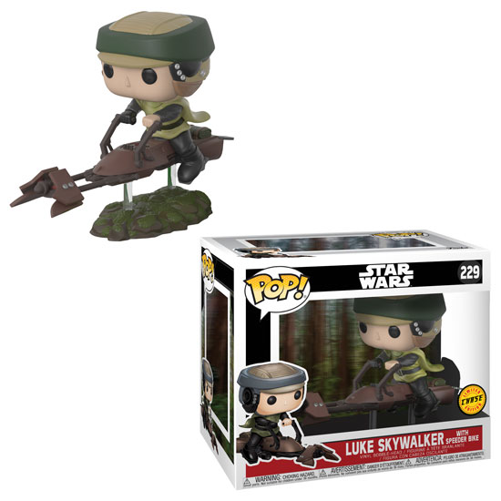 Star Wars Leia on Speeder Bike Deluxe Pop! Vinyl Bobble Head Chase