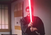 Bruce Lee Fight Scene with Lightsabers