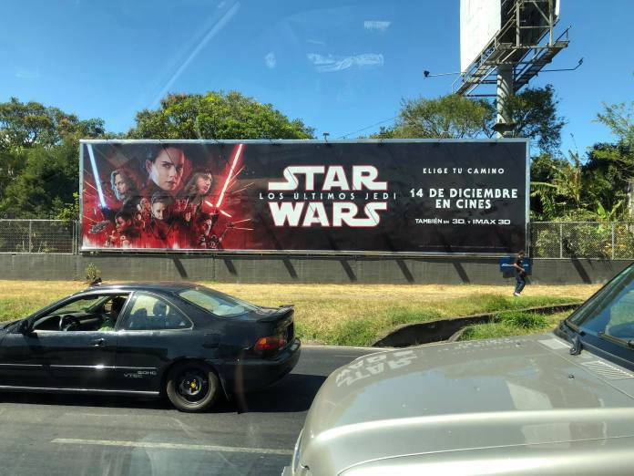 Star Wars: The Last Jedi Banner in Costa Rica