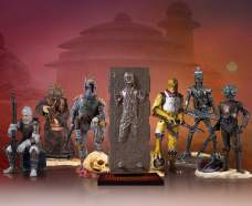 Star Wars Bounty Hunters and Han Solo in Carbonite Collector's Gallery Statues
