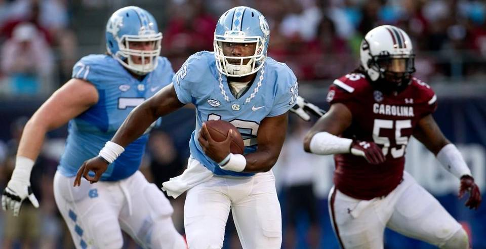 UNC and QB Marquise Williams are trying to run as far away from the opening loss to South Carolina as possible. (Robert Willett - News Observer)