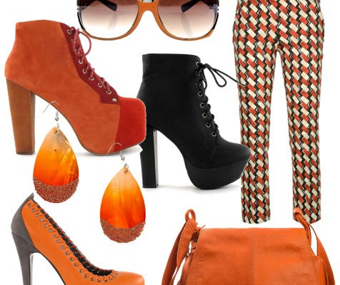 Orange and Black – Cheap Casual Outfit