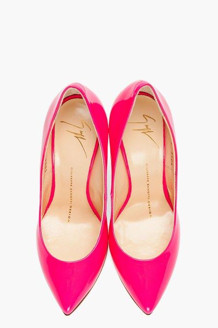 GIUSEPPE ZANOTTI - FUchsia pink Dirty 100 Heel Price $550.00