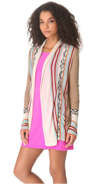 Twelfth St. by Cynthia Vincent - Log Cabin Cardigan Price $255.00