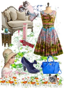 Vintage Look Dresses – Floral print dress in retro style